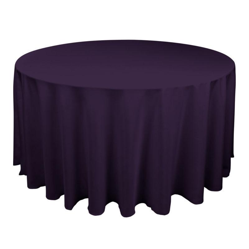 "25 Eggplant 120"" Round Fine Polyester Tablecloths | eBay"
