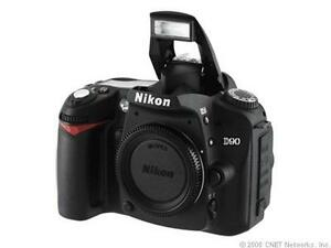 Nikon-D90-12-3-MP-Digital-SLR-Camera-Black-Body-Only-Lot-6911