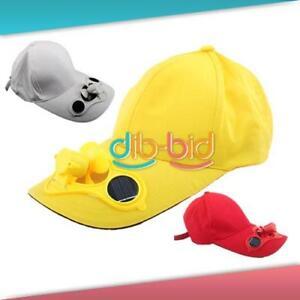 Adult-Summer-Solar-Sun-Power-Fan-Hat-Cap-Golf-Baseball