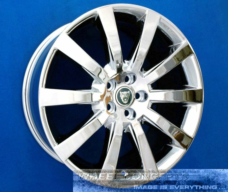 Jaguar Xk Xkr 19 Inch Chrome Wheels Rims Xk 8 R Carelia Staggered 19x8.5 19x9.5