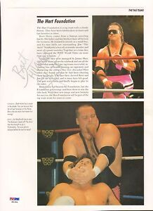 Bret-Hart-Signed-Auto-039-d-WWE-WWF-10x13-Photo-PSA-DNA-COA