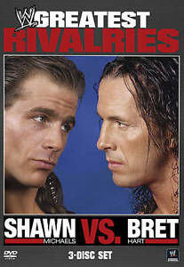 WWEs-Greatest-Rivalries-Shawn-Michaels-vs-Bret-Hart-3-Disc-DVD-Used-WWF