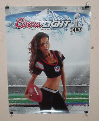 COORS LIGHT BEER POSTER SUPER BOWL NFL FOOTBALL GIRL