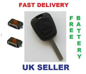 peugeot 107 207 307 remote key fob repair kit battery ebay. Black Bedroom Furniture Sets. Home Design Ideas