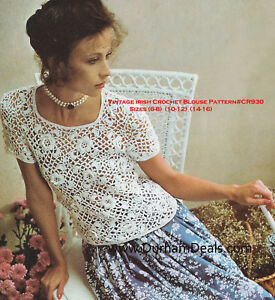 Crochet Pattern Central - Free Women's Short Sleeved Tops Crochet