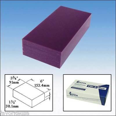 Ferris Carving Wax Block 1 Lb Purple Medium File-a-wax