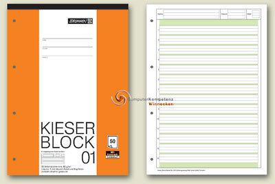 Kieser-Block 01 Kontrastlineatur Lineatur 1  Brunnen