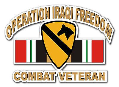 1st Cavalry Division Iraqi Veteran 5.5 Sticker 'officially Licensed'