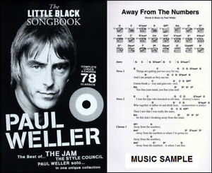 LITTLE-BLACK-SONGBOOK-PAUL-WELLER-GUITAR-MUSIC-BOOK