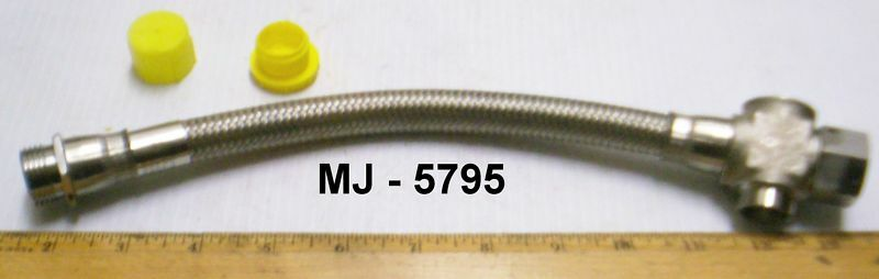 Aeroquip Stainless Steel Braided Hose Assembly - P/N:  AE700818-2
