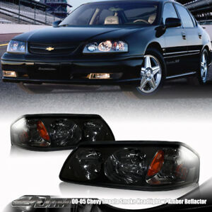 2000-2005-Chevrolet-Impala-Smoke-Lens-Black-Headlights-with-Amber-Reflectors