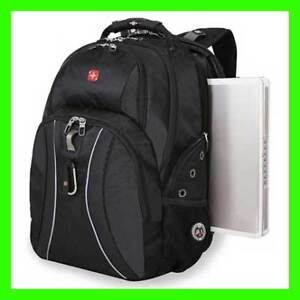 New SWISS GEAR Backpack Laptop Notebook Black Wenger 17 inch Computer Swissgear