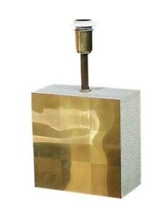 Scultura Lampada Ottone E Lav Graniglia Design Anni 70  eBay