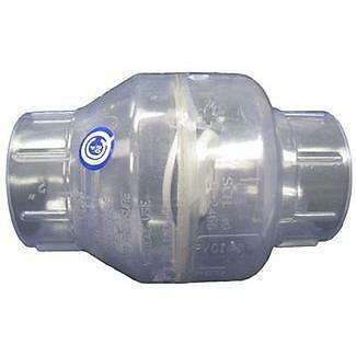 2 Quot Clear Swing Check Valve For 2 Quot Pvc Swimming Pool Spa