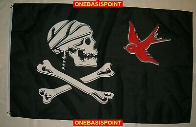 3'x5' Jack Sparrow Jolly Roger Flag Skull Crossbones Death Bones Pirates 3x5