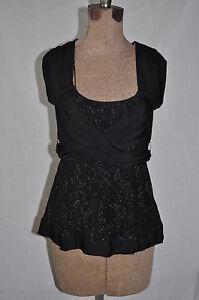 ETCETERA-8-OMNI-black-shiny-gathered-blouse-NWT-155
