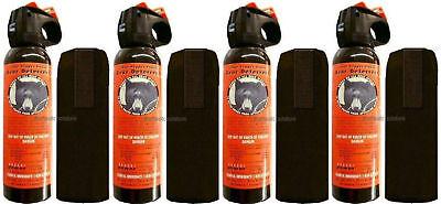 Lot Of 4 Udap Pepper Power Bear Spray W/ Holster 12vhp