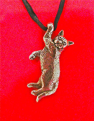 British Shorthair Cat Pendant Kitten Necklace Sterling Silver Custom Kitty 925