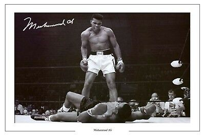 MUHAMMAD ALI BOXING SIGNED AUTOGRAPH PHOTO PRINT