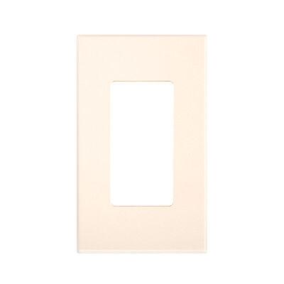 (10 pc) NEW Screwless Wall plate Decora GFCI Cover Almond Decorator Snap on Almond Decora Wall Plate