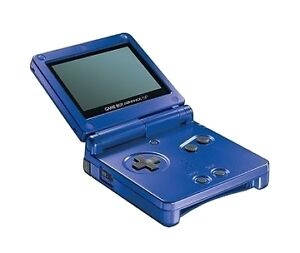 Nintendo Game Boy Advance SP Launch Edition Cobalt Blue Handheld System