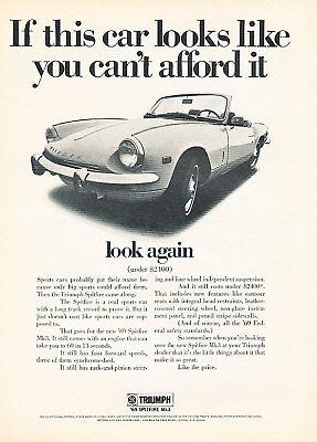 1969 Triumph Spitfire 2400 Vintage Advertisement Ad P28