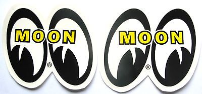 Mooneyes 4 Tall Decals Hot Rat Rod Sticker Muscle Car Drag Race Genuine Moon