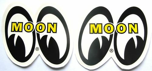 4 Sets Of Mooneyes 1 1/2 Tall Decals Hot Rat Rod Sticker Muscle Car Drag Race