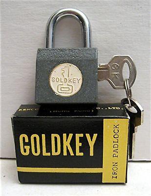 Old Gumball Vending Machine Goldkey Iron Padlock In Box