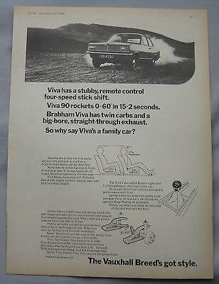1968 Vauxhall Viva 90 Original advert
