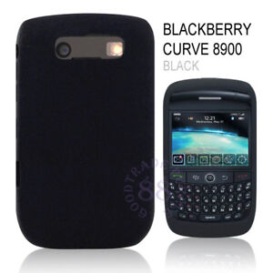 BLACK SOFT SILICONE SKIN CASE BLACKBERRY CURVE 8900