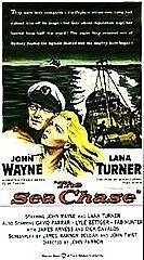NEW VHS The Sea Chase: John Wayne Lana Turner James Arness Tab Hunter L Bettger