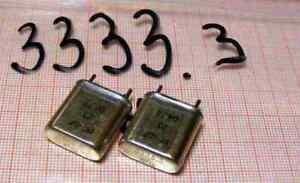 Quartz ( Crystal oscillator) 3333,3kHz ( 3,3333MHz ) ( 2pcs) [K1-56] - Wroclaw, Polska - Quartz ( Crystal oscillator) 3333,3kHz ( 3,3333MHz ) ( 2pcs) [K1-56] - Wroclaw, Polska