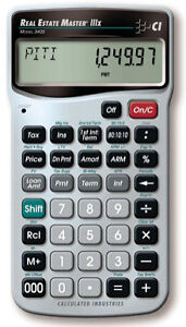 real estate master qualifier iiix new mortgage calculator model 3405 98584034054 ebay