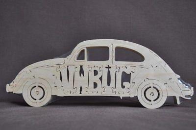 Vintage Volkswagen Vw Beetle Bug Wood Puzzle Car Toy
