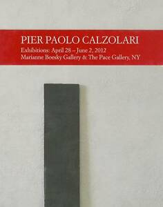 NEW Pier Paolo Calzolari by Germano Celant