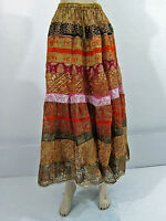 Jaipuri Print Bohemian Long Skirt for Womens