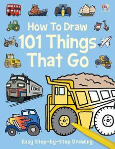 How to Draw 101 Things That Go By Nat Lambert NEW (Paperback) Book