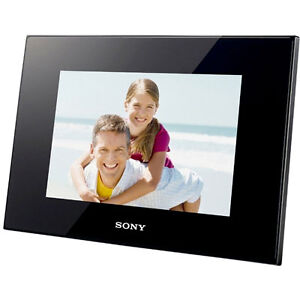 New-Sony-DPF-D75-7-LED-Backlit-Digital-Picture-Photo-Frame-w-Remote-Black