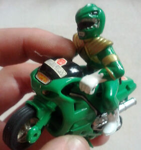 Power Rangers - Green Ranger with Bike (Pull Back Action), LIMITED PREMIUM