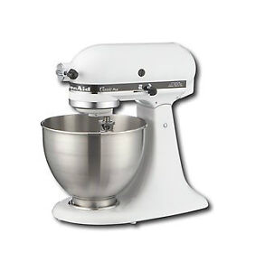 KitchenAid K45SSWH K45SS Classic 275 Watt 4 1 2 Quart Stand Mixer White 798256088087 | eBay