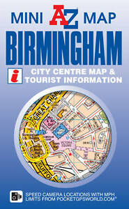 Birmingham Geographers A-Z Map Mini Sheet Map & Tourist Information Folded - New