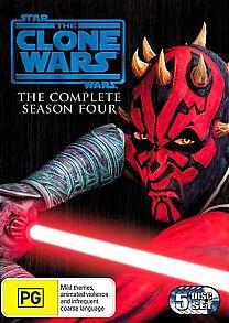Star Wars - The Clone Wars - Animated Series : Season 4 (Blu-ray, 2012, 3-Disc S