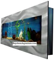 Wall Aquariums and Wall Fish Tanks Set Up/Installation