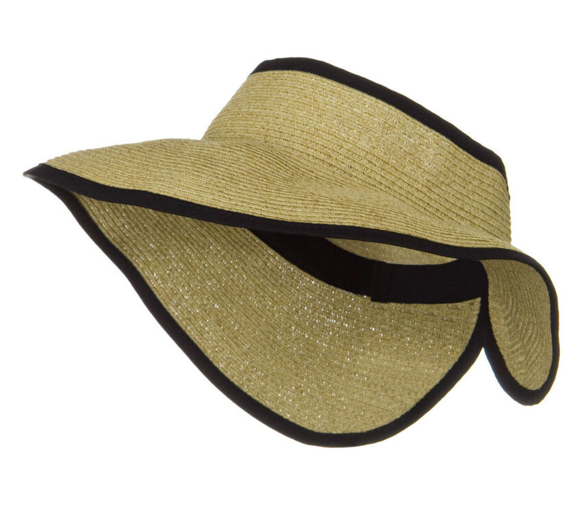 San Diego Hat Company UPF 50+ Roll Up Wide Brim Sun Visor Hat