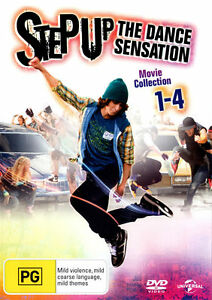 STEP UP The Dance Sensation Movie 1+2+3+4 = NEW R4 DVD
