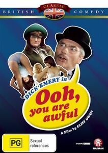 OOH-YOU-ARE-AWFUL-DVD-1974-New-Sealed-R4-Dick-Emery-Derren-Nesbitt-Comedy