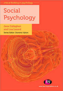 Social Psychology by Jane Callaghan, Lisa Lazard (Paperback, 2011)