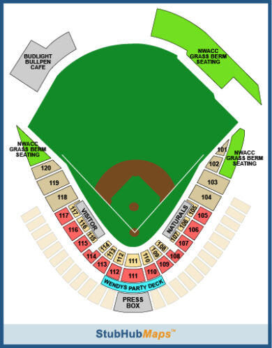 Springfield Cardinals Tickets Seating Chart