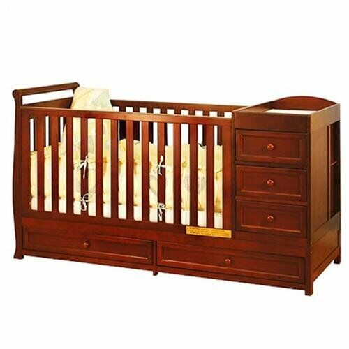 Mini Crib With Changing Table Attached